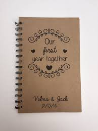 our first year together anniversary gift first wedding anniversary paper our love story couple gift notebook gift personalized