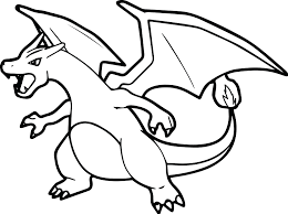 pokemon mega charizard y coloring pages
