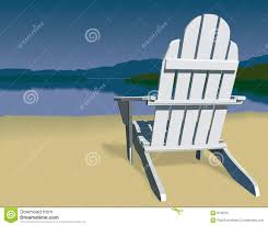adirondack chair silhouette. Adirondack Chair Scene. On A Beach That Has View Of Mountain Silhouette