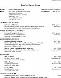 Medical School Resume Format Anatomy Of A Successful Medical