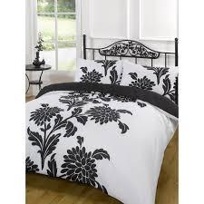 simple bedroom design with black white fl pattern king size duvet cover king size metal