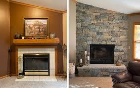 stone veneer interior design living