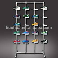 Footwear Display Stands Huohua Professional Manufacture Wholesale Shoe Shops Floor Rack 15
