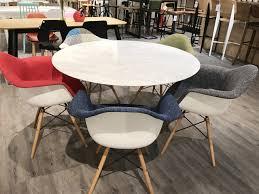 tulip dining table round marble replica dia900