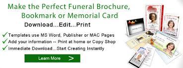 Funeral Brochure | Funeral Brochures | Memorial Brochure Templates