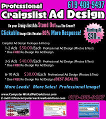 ad sample craigslist ad design ad sample complete web solutions