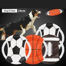 2019 pet flying disc world cup football soccer basketball rugby design dog agility toy creative pets obence tools aaa2234 from