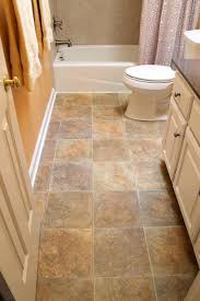 bathroom vinyl flooring. Vinyl Floor, Kohler Toilet In White, Tile Tub Surround Traditional-bathroom Bathroom Flooring