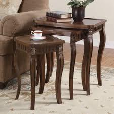 3 piece table set. Coaster Fine Furniture 3-Piece Cherry Accent Table Set 3 Piece U