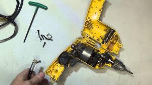 dewalt electric drill power cord replacement youtube  at Dewalt Dw236 Wiring Diagram