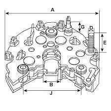 magneti marelli alternator rectifier diode plate ford focus diesel ri 32h 2 ri 32h 3