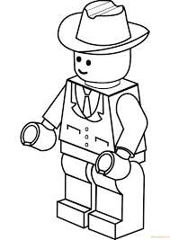 Small Picture Lego City Cowboy Hat Coloring Page Free Coloring Pages Online