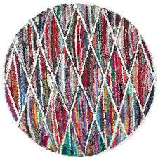 safavieh nantucket multi 4 ft x 4 ft round area rug