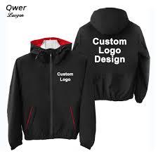 Sweater Logo Design Us 29 1 29 Off Autumn Winter Custom Logo Design Men Hooded Jacket Korea Style Diy Printing Zipper Coat Sweater Fashion Unisex Outdoor Jackets In