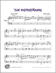 The Entertainer (Joplin) | Easy Piano Sheet Music (Digital Print)