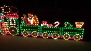 0164 piece holographic lighted motion train set christmas yard art decoration 8 5