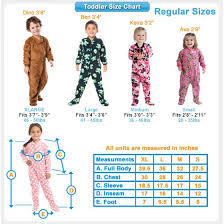 3 Year Old Clothing Size Chart Footed Pajamas Creamsicle Toddler Hoodie Fleece Onesie