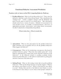 functional behavior plan sample document sample positive functional behavior plan sample document sample