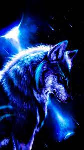 Cool Blue Cool Black Wolf Wallpaper ...
