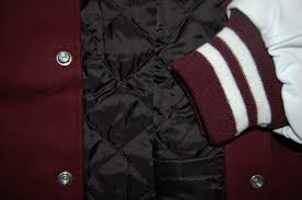 20varsity letterman jackets lining of maroon and white genuine leather and 100 premium wool