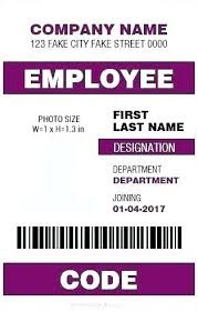 Company Id Badge Template Employee Id Badge Template