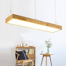 rectangular pendant lighting. Solid Wooden Restaurant Lamp Pendant Lights Wood Nordic NEW Rectangular Bar LED Office Lighting T