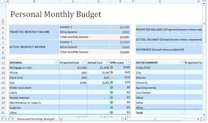 example of personal budget sample personal budget excel template form shiftevents co