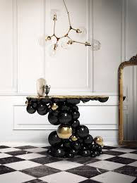 black and white modern furniture. Luxury Gold And Black Furniture For Modern Interiors (21) White