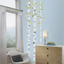 birch trees l and stick giant wall decal