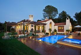 High Quality Hope Ranch Spanish Style Custom Home Exterior
