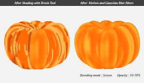 pumpkin drawing with shading. halloween pumpkin drawing with shading
