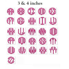 circle monogram large 3 letter satin machine embroidery satin font instant 3