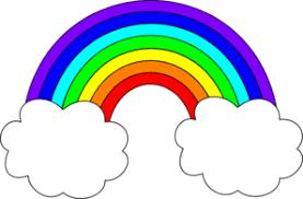 Image result for rainbow clip art preschool