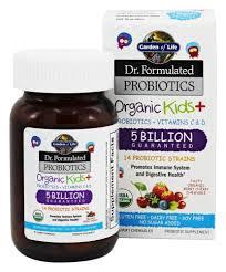 garden of life dr formulated probiotics organic kids 5 billion cfu 30 chewables at luckyvitamin com