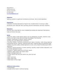 Apartment Maintenance Supervisor Resume Sample Profesional Resume