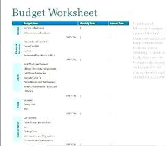 Budget For Young Adults Student Budget Template Sheet University Example Excel