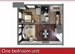 1 BEDROOM UNIT 42.84 Square Meters Floor Area