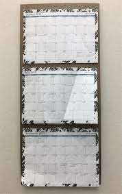 At A Glance 3 Month Calendar 3 Month Calendar Wall Hanger Heavy Fiber Board Holds All Twelve