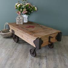 lofty industrial style coffee table large railway cart melody maison uk with wheel leg nz