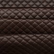quilted leather faux leather diamond padded cushion interior
