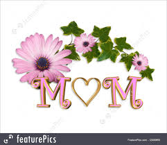 Illustration Of Mothers Day Card Heart 3d Graphic