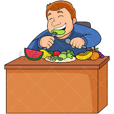 fruits and vegetables clip art. Beautiful Art Overweight Man Eating Healthy Fruits Veggies PNG  JPG And Vector EPS File  Formats  On Fruits And Vegetables Clip Art C