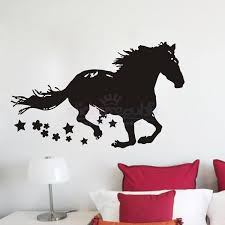 on horse wall art decal with running horse wall sticker