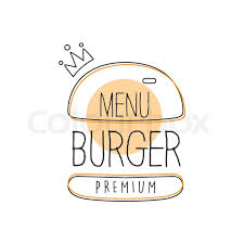 fast food restaurant logos crown. Perfect Crown Burger Wih Crown Premium Quality Fast Food Street Cafe Menu Promotion Sign  In Simple Hand Drawn Design Vector Illustration Good Products Trendy Junk  Inside Restaurant Logos Colourbox