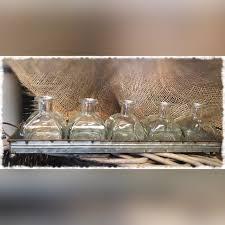 Decorative Metal Tray Decorative Metal Tray With 5 Glass Vases Creative Alchemy Llc