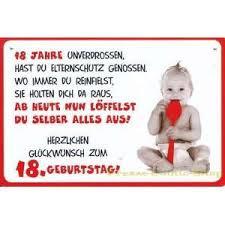 Plastikschild Postkarte Coole Schilder 18 Geburtstag On Popscreen