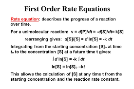 2 first order rate equations