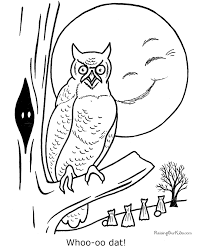 Small Picture Free printable Halloween owl coloring page 010