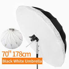 Light Diffuser Umbrella Amazon Com Godox 70 Inch 178cm Black White Reflective