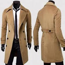 brown wool trench coat for men